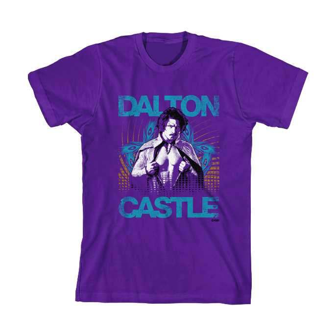 DALTON CASTLE EAT YOUR HEART OUT  PURPLE T-SHIRT