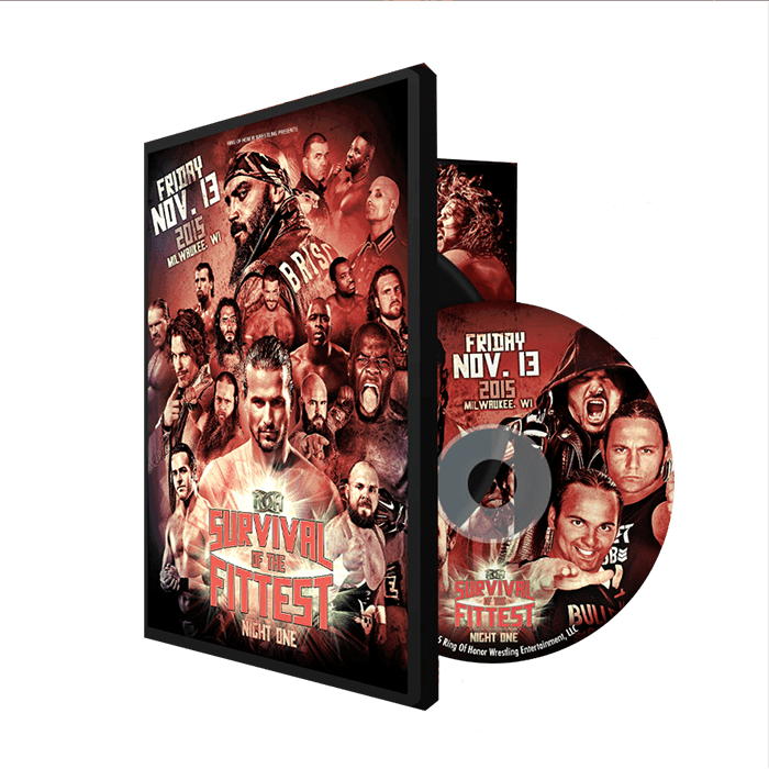 11/13/15 SURVIVAL OF THE FITTEST NIGHT - MILWAUKEE (DVD)