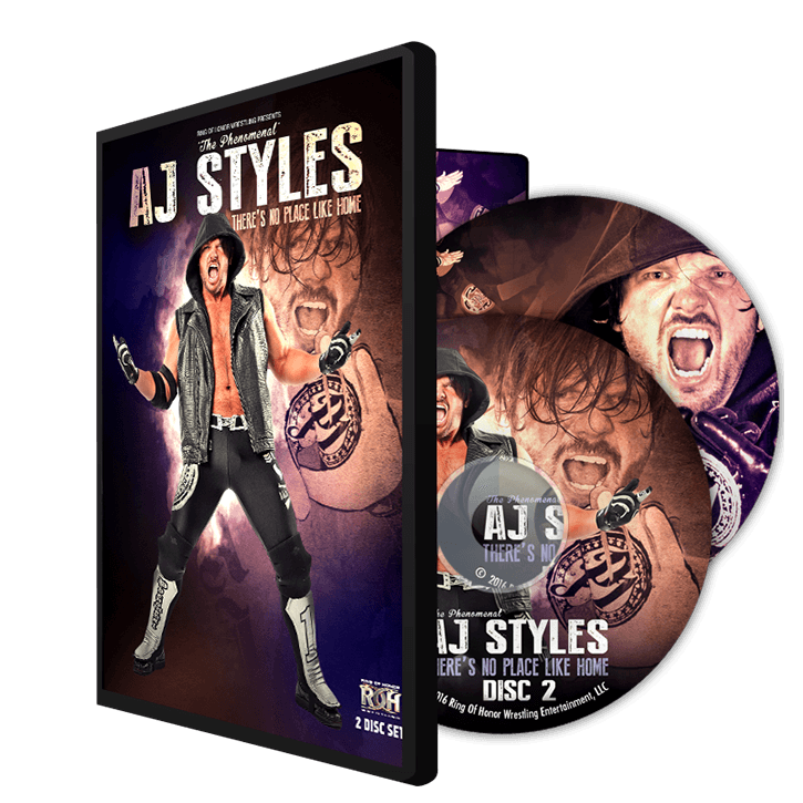 """AJ STYLES """"There's No Place Like Home"""" 2 Disc DVD"""