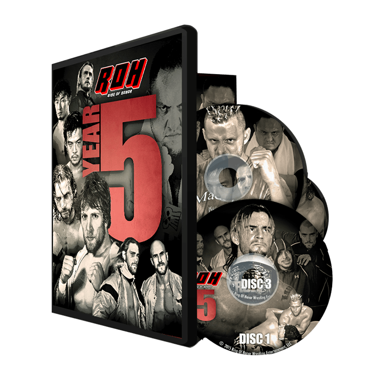 RING OF HONOR: YEAR FIVE (3 DISC DVD)