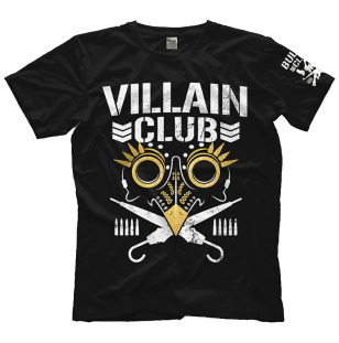 "MARTY SCURLL ""GOLD VILLAIN CLUB"" T-SHIRT"